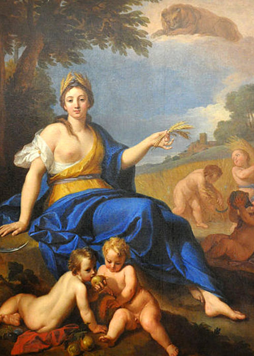 Ceres, alegoría del verano. Louis de Boullogne