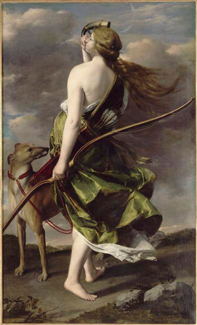 Diana cazadora. Orazio Gentile