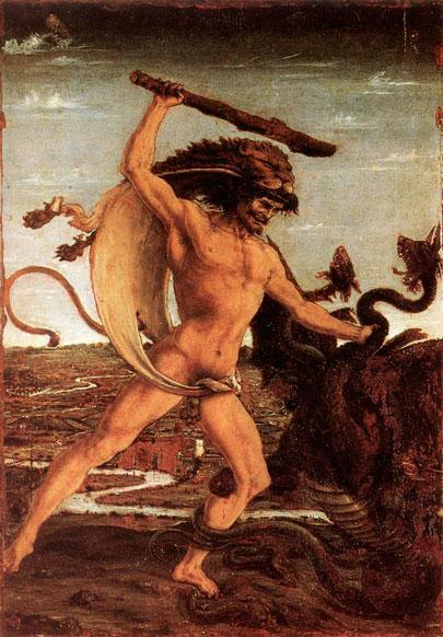 Hércules y la Hidra. Antonio Pollaiolo