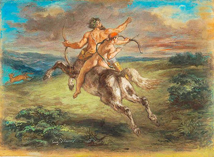 La-educación-de-Aquiles.-Eugene-Delacroix