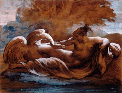 Leda y el cisne. Théodore Géricault