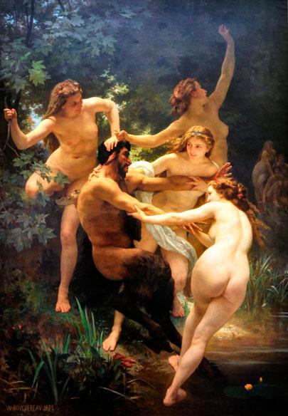 Ninfas y Pan. William Bouguereau