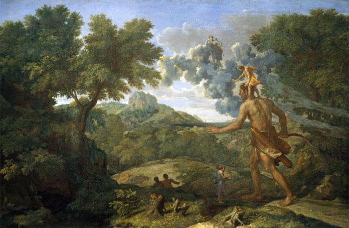 Orión ciego busca el sol. Nicolas Poussin