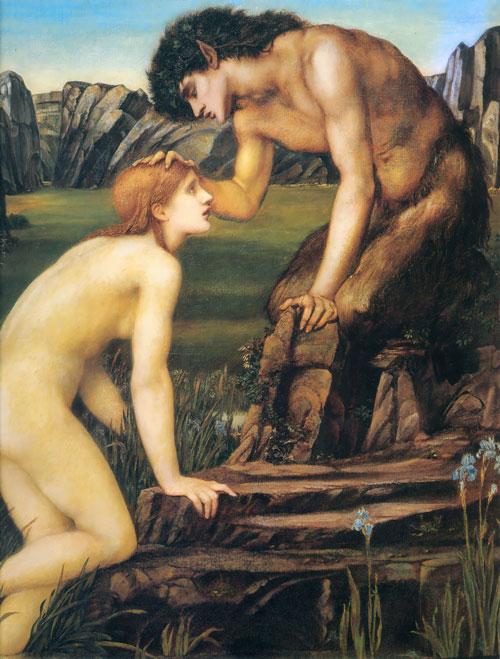 Pan y Psique Edward Burne-Jones