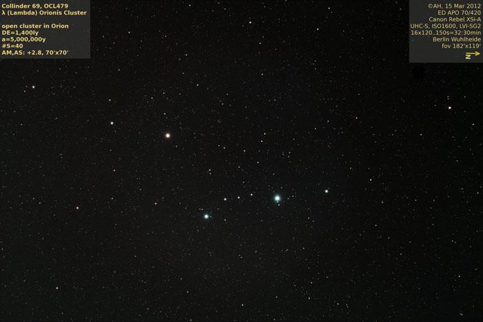 Lambda Orionis Cluster-Collinder 69