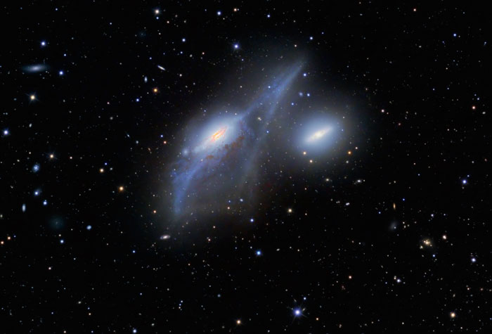 The Eyes Galaxies NGC 4438 and NGC 4435