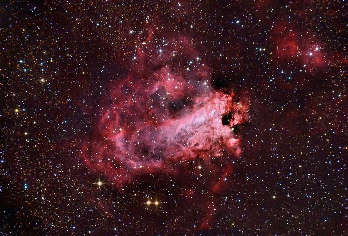 Omega Nebula, Swan Nebula, Horseshoe Nebula or Checkmark Nebula M 17 - NGC 6618