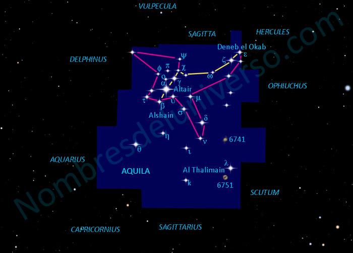 El diseño original de la constelación Aquila
