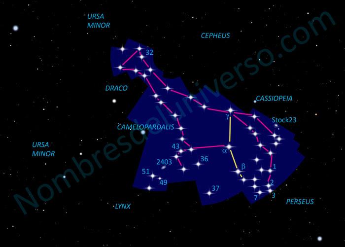 Diseño original constelación Camelopardalis