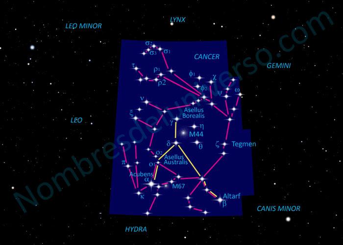 Diseño original constelación Cancer