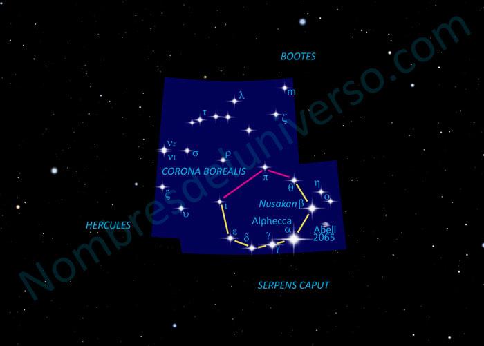 Diseño original de la constelación Corona Borealis