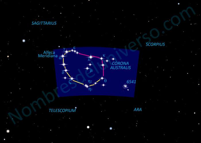 Diseño original de la constelación Corona Australis
