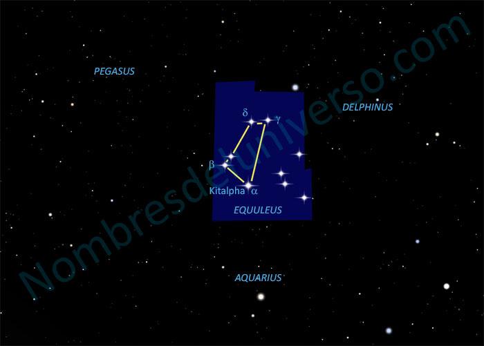 Diseño original de la constelación Equuleus