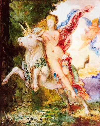 Europa y el toro. Gustave Moreau