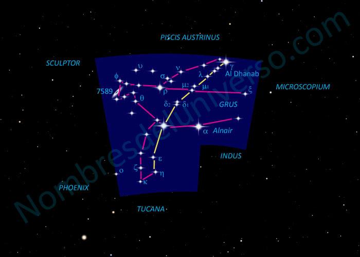 Diseño original de la constelación Grus