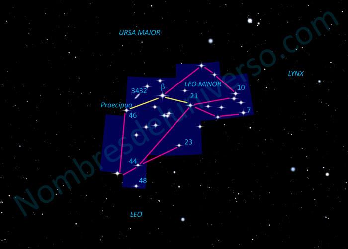 Diseño original de la constelación Leo Minor