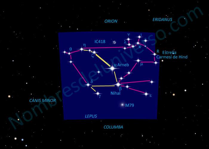 Diseño original de la constelación Lepus