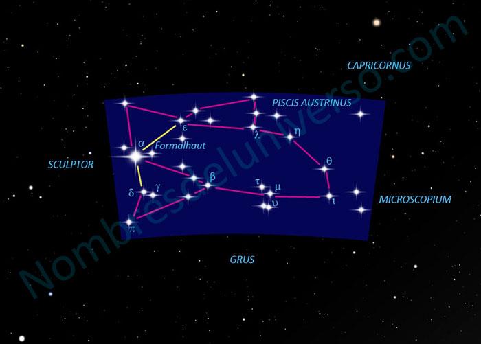 Diseño original de la constelación Piscis Austrinus
