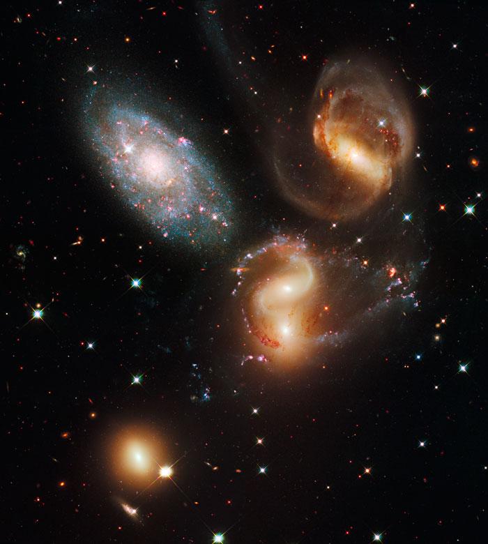 Stephan's Quintet HCG 92 - NGC 7319 -7320