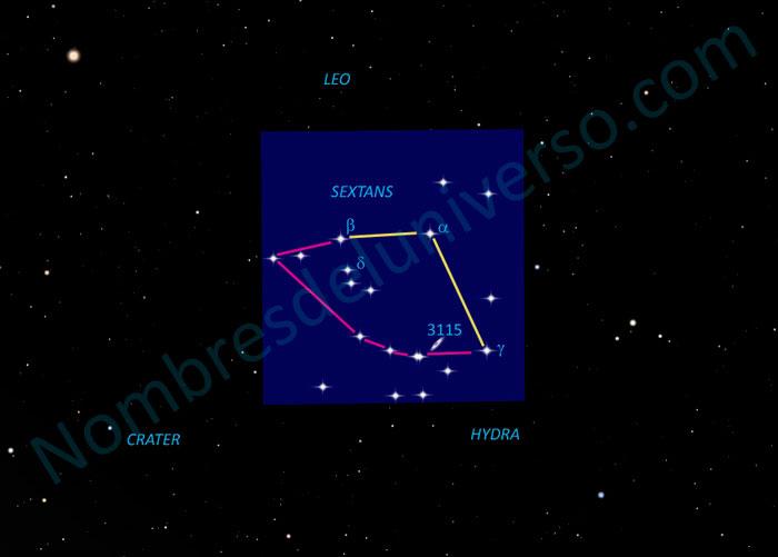 Diseño original de la constelación Sextans