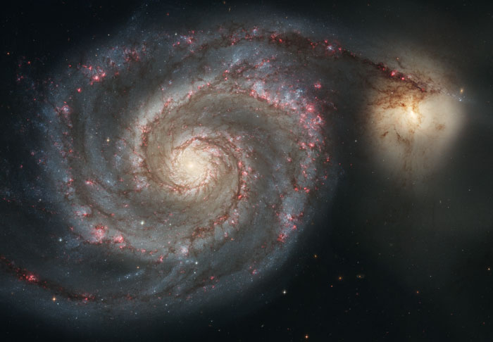 The Whirlpool GalaxyM51 - NGC 5194 and  NGC 5195