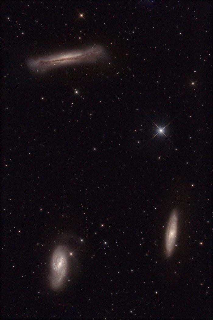 Leo Triplet or  Trio in Leo M 65 - NGC 3623, M 66 - NGC 3627 y NGC 3628
