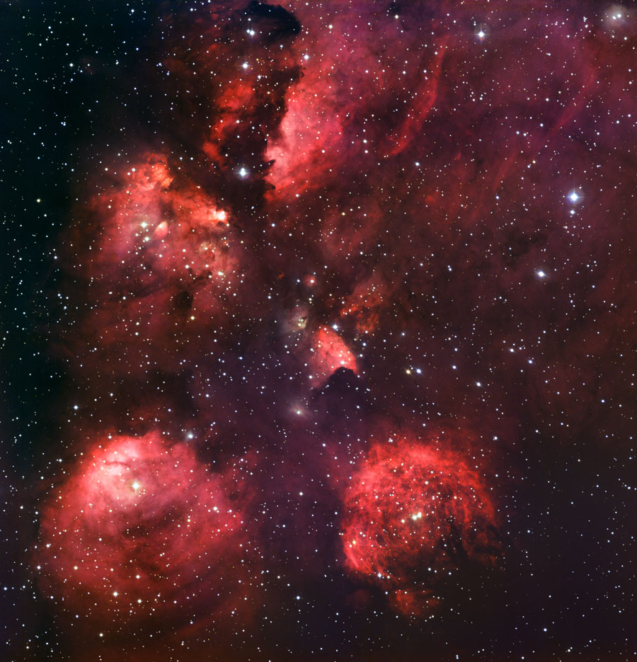 Nebulosa Garra de Gato. NGC 6334. Escorpio