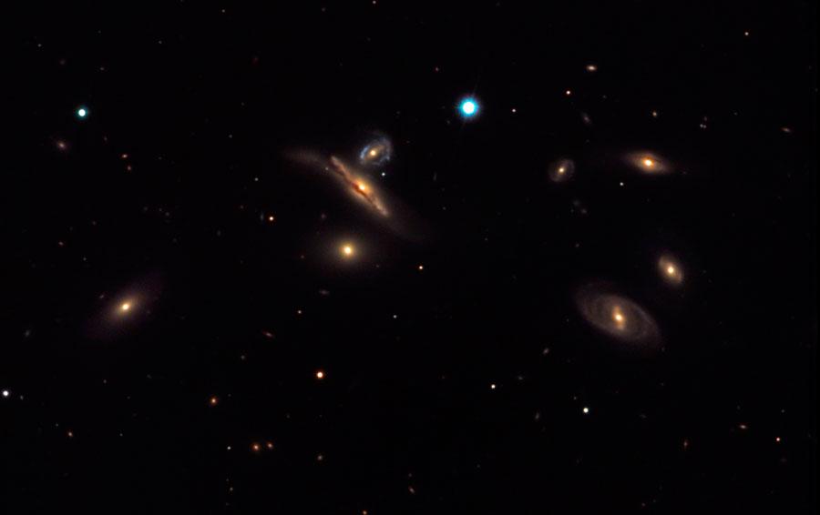 Septeto de Copeland. NGC 3745 Leo