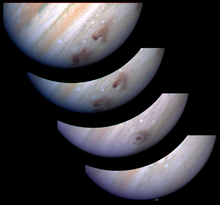 sl9gevol_hst_big-(apod) Jupiter Swallows Comet Shoemaker Levy 9
